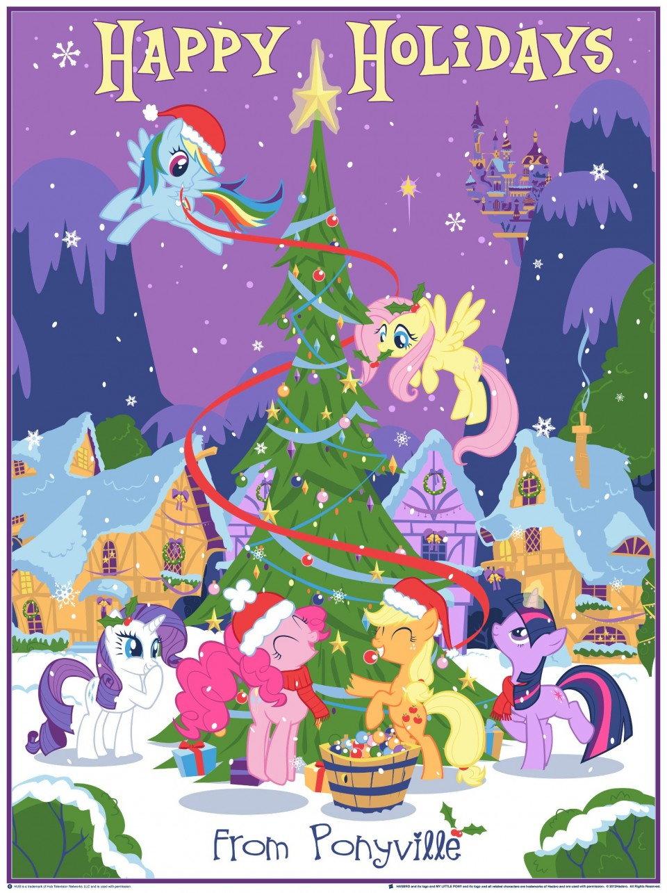 My Little Pony Christmas.Dark Hall Mansion Officially Licensed Hasbro My Little