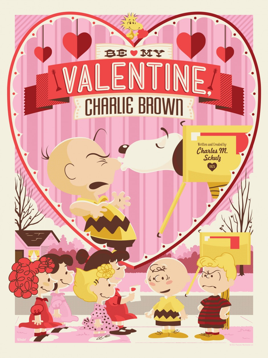 Officially Licensed Peanuts U201cBe My Valentine, Charlie Brownu201d Prints On Sale  Next Tuesday 1/22/13 At 9:30 AM PST!